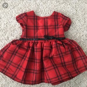 Carter's Red Plaid Baby Girl Dress
